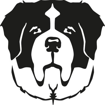 セントバーナード犬の頭