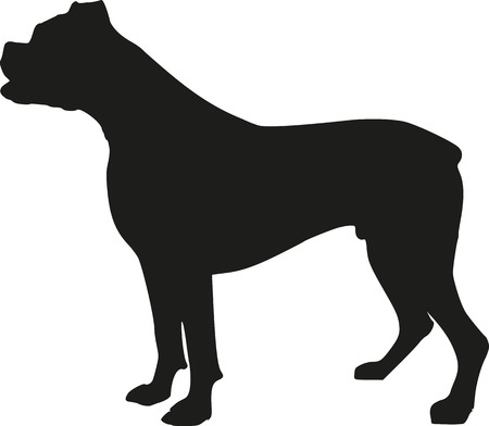 Boxer dog silhouette 矢量图像