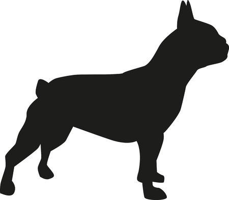 french bulldog puppy: French bulldog silhouette