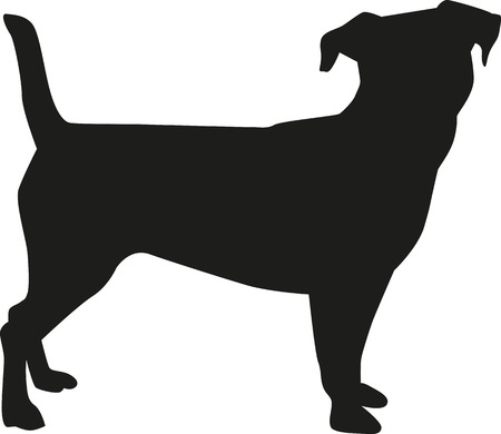 Jack-Russell-Terrier-Silhouette Vektorgrafik