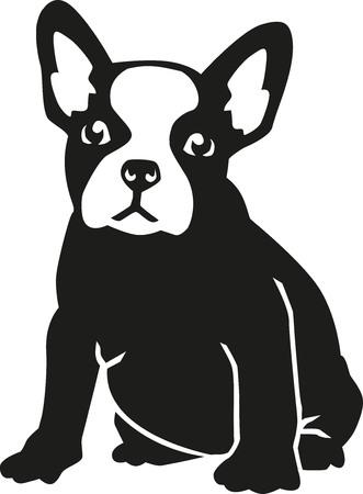 Sitzen Französisch Bulldog Vektorgrafik