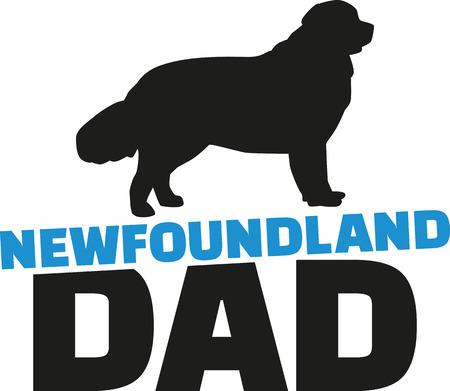 newfoundland: Newfoundland dad with dog silhouette