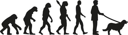 sapiens: Golden retriever evolution Illustration