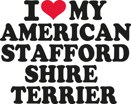 stafford: I love my american staffordshire terrier
