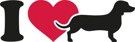 dachshund: I love Dachshund icon