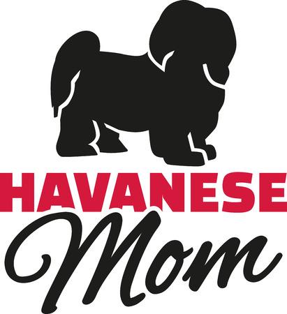 havanese: Havanese Mom with dog silhouette