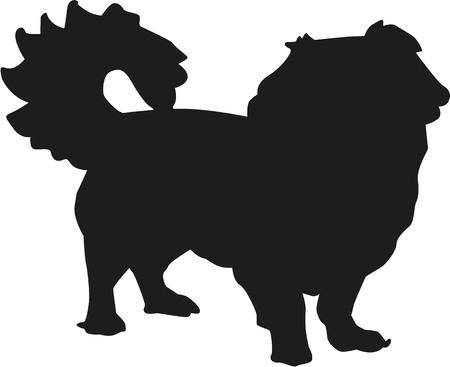pekingese: Pekingneses silhouette