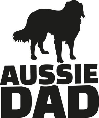 australian shepherd: Australian Shepherd dad