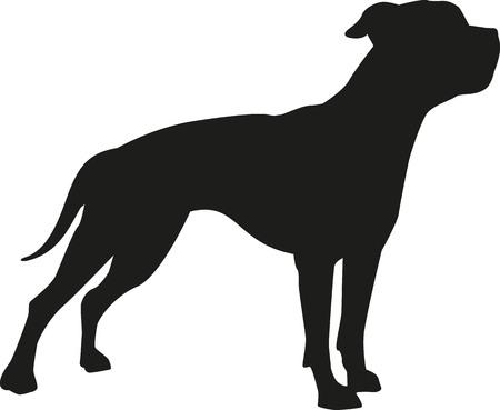 American bulldog silhouette