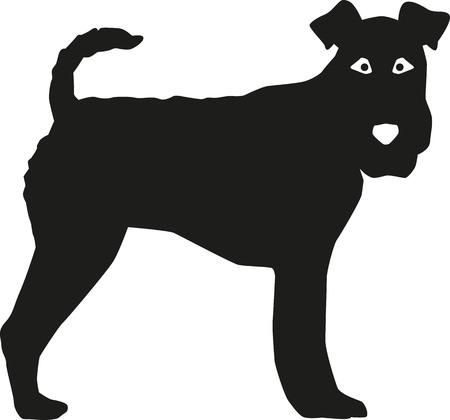 fox terrier: Fox Terrier silhouette Illustration