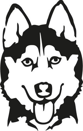 722 siberian husky puppy stock vector illustration and royalty free rh 123rf com husky clipart outline husky clipart free