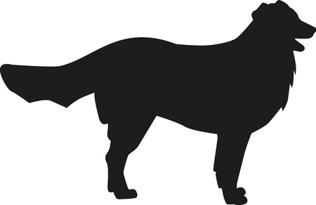 bernese: Bernese mountain silhouette Illustration