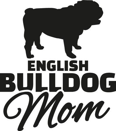 Englisch Bulldog Mom Vektorgrafik