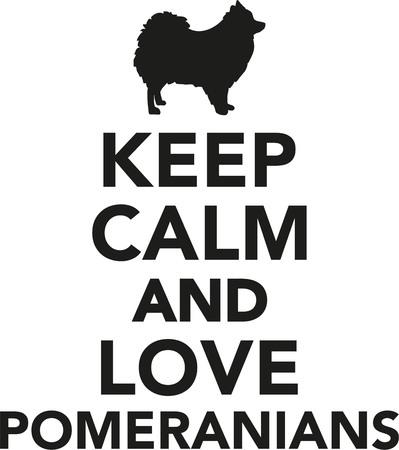 spitz: Keep calm and love Pomeranians Illustration