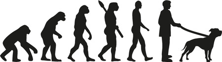 sapiens: American bulldog evolution Illustration