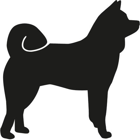akita: Akita silhouette