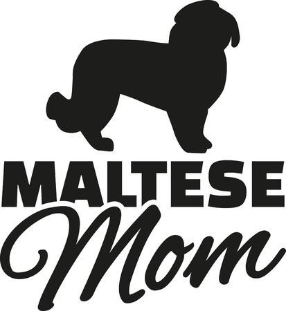 maltese dog: Maltese dog Mom