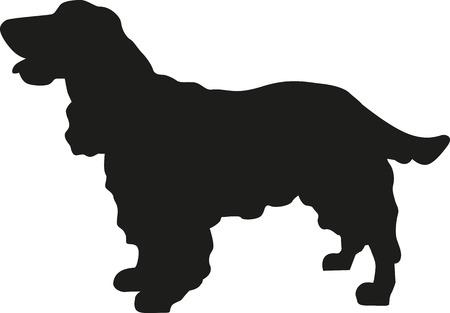 Cocker Spaniel silhouette
