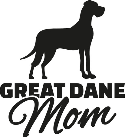 great dane: Great dane Mom Illustration