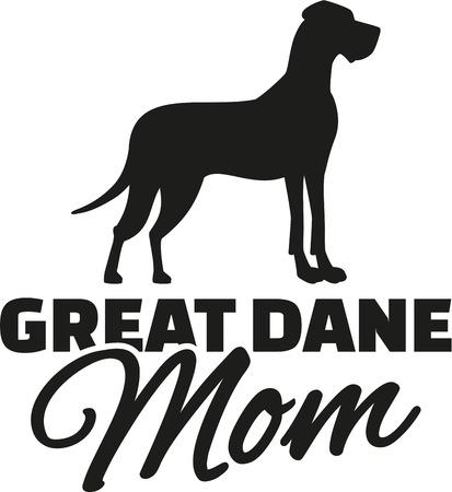 Great dane Mom Illustration
