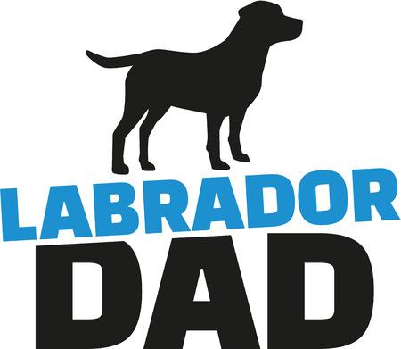labrador: Labrador Retriever dad with dog silhouette