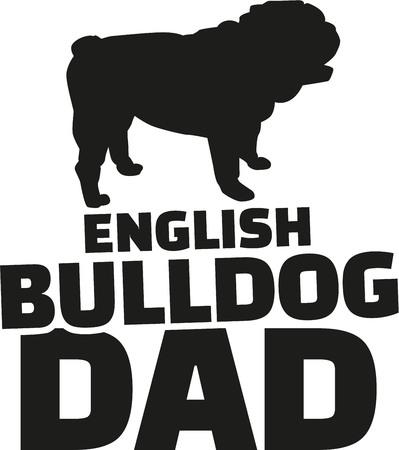 Englisch Bulldog Dad Vektorgrafik