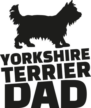 yorkshire terrier: Yorkshire Terrier dad Illustration