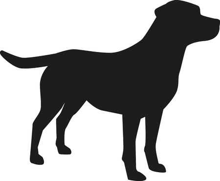 Labrador Retriever silhouet Stock Illustratie