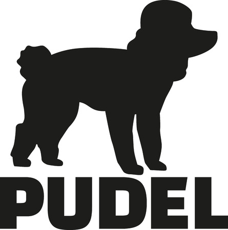 breed: Poodle with german breed name Illustration