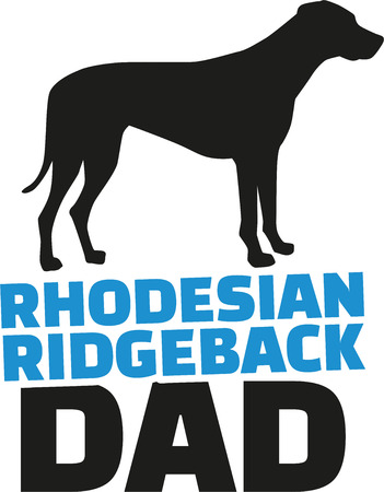 dad: Rhodesian ridgeback dad with dog silhouette