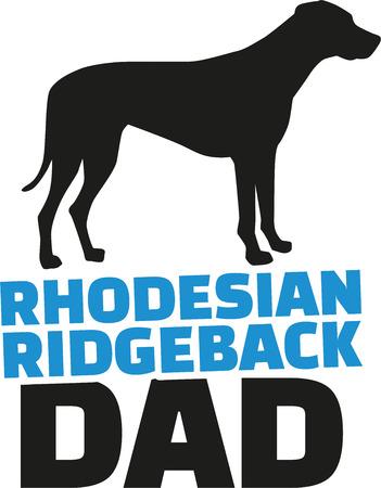 ridgeback: Rhodesian ridgeback dad with dog silhouette