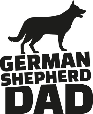 alsatian: German Shepherd dad Illustration