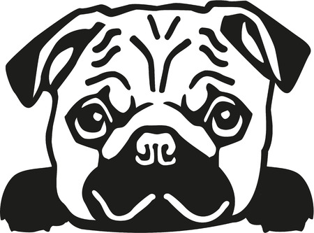 884 Pug Silhouette Stock Illustrations Cliparts And Royalty Free