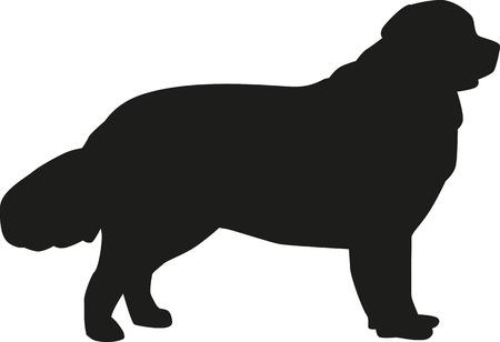 "Newfoundland Dog Silhouette(s)"" Stickers by Jenn Inashvili | Redbubble"