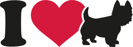 highland: I love my West Highland Terrier icon