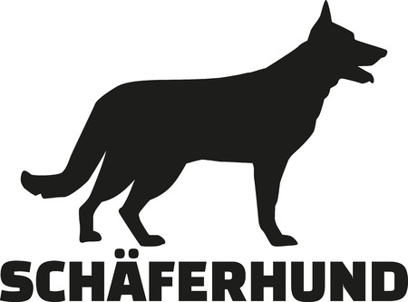 German Shepherd with breed name