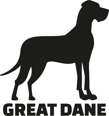 great dane: Great dane with breed name