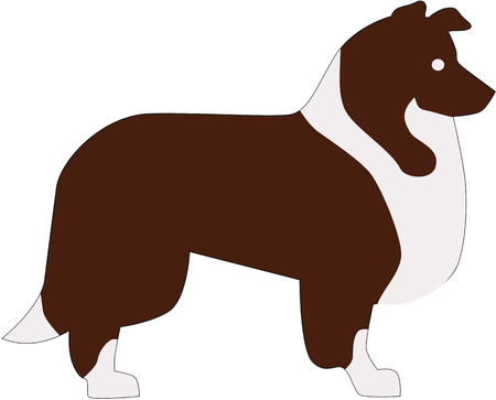 lassie: Collie pictogram