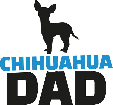 dad: Chihuahua dad with dog silhouette