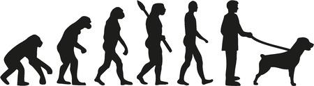 ancestors: Rottweiler evolution Illustration