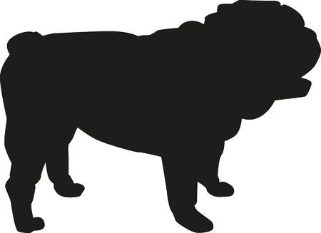 Inglés bulldog silueta
