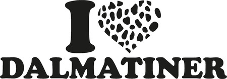 spotted: I love Dalmatian german with spotted heart