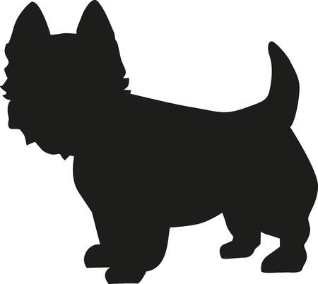 West Highland Terrier sylwetka Ilustracje wektorowe