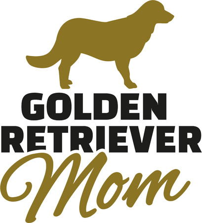 canines: Golden retriever Mom with dog silhouette
