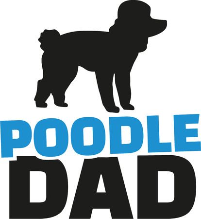 dad: Poodle dad with dog silhouette