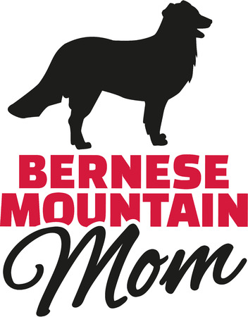 Bernese mountain Mom with dog silhouette