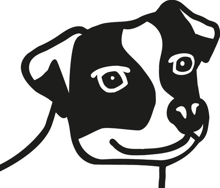 jack russell: Jack Russell Terrier head Illustration