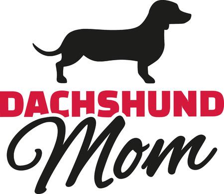 weenie: Dachshund Mom with dog silhouette