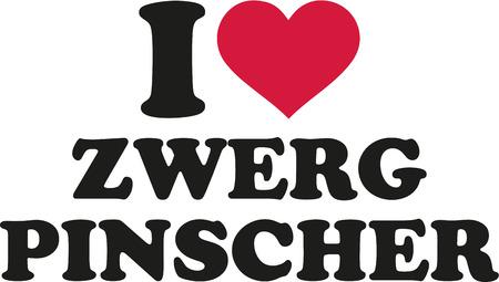 pinscher: I love miniature pinscher german Illustration