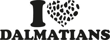 spotted: I love Dalmatian with spotted heart